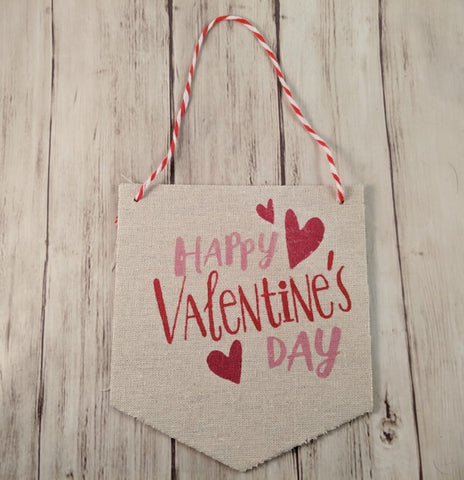 Valentine's Day Paper Hanging Sign