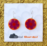 Closet Mod X Mintcloud Studio Earrings - Purple & Orange Flower Dangles