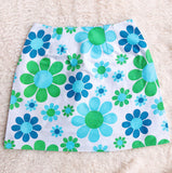 Flower Power Vintage Fabric Mini Skirt