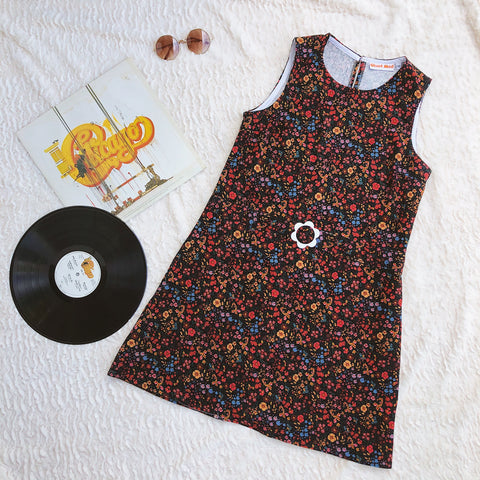 Floral Baby Cord Shift Dress