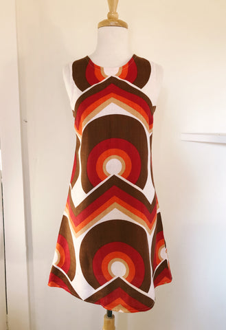 Vintage Fabric Mod Shift Dress