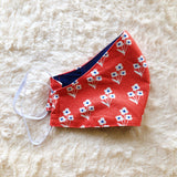 100% Cotton Fabric Face Mask - Retro Flower Print