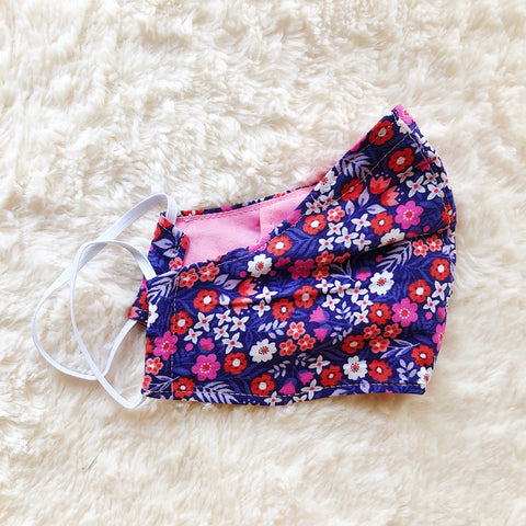 100% Cotton Fabric Face Mask - Alexandra Print