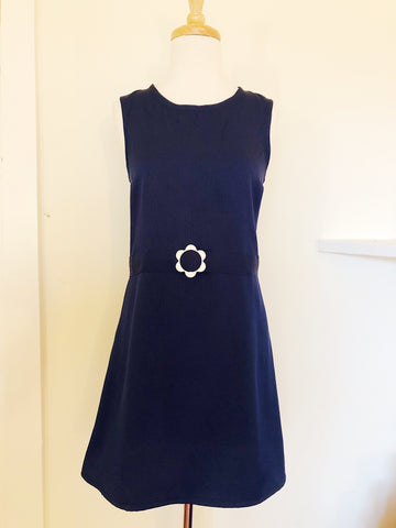 French Navy Shift Dress