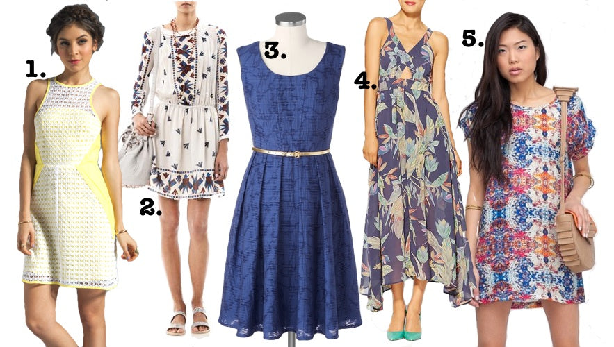 Our five favoriet summer dresses include a few different options to choose from.