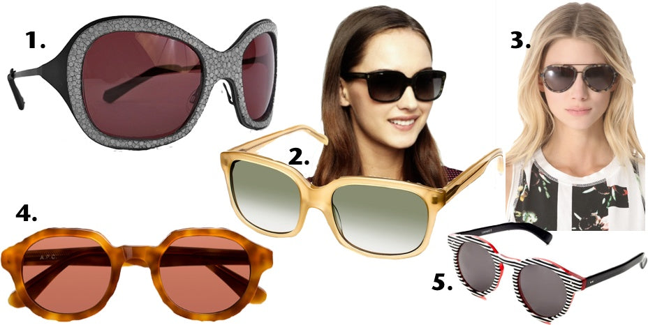 Five of our CEO's favorites: top sunglasses for the summer.