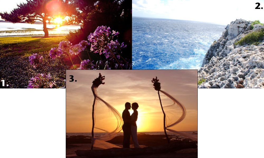 Our favorite destination weddings include Georgia's Sea Island, The Bluff in Cayman Islands and Playa Langosta, Costa Rica.