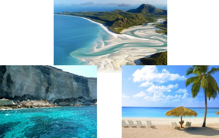 The most beautiful beaches in the world include Seven Mile Beach, Whitehaven Beach and Rabbit Beach