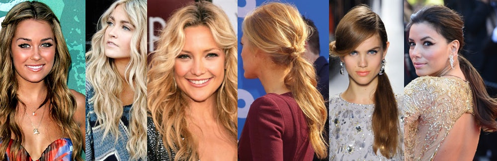 Our summer hairstyle picks include curly waves and low slung ponytails as seen here.