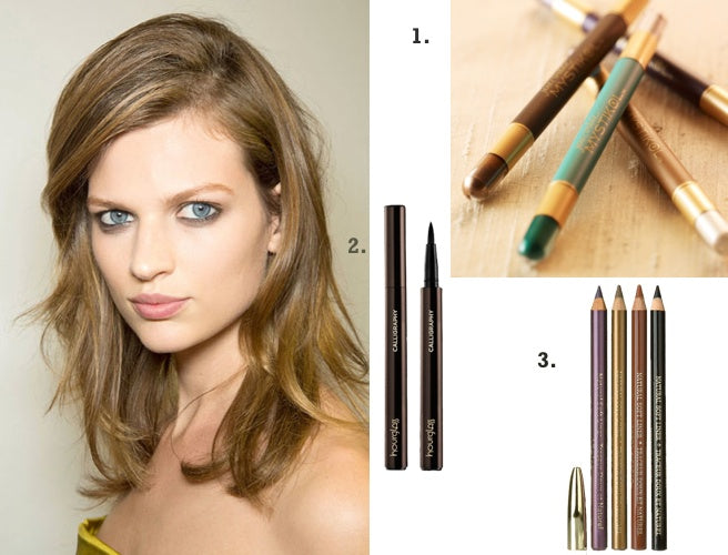 Use natural eyeliners, like Jane Iredale, Hourglass and Ecco Bella, as part of your spring eye makeup trends.