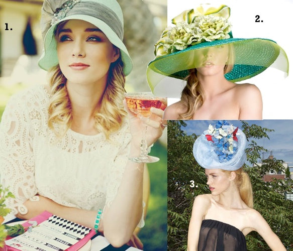 We love Louise Green, Formé Millinery and Satya Twena designs for Kentucky Derby Hats.