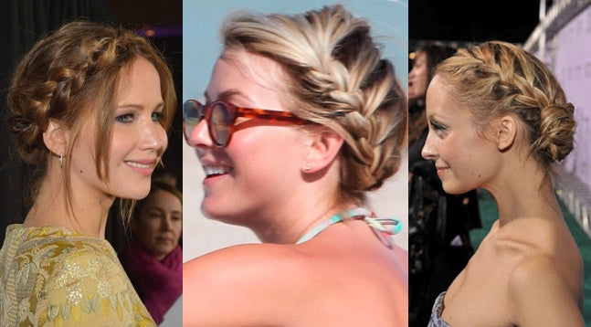 Our summer hairstyle picks include side French braids as seen here.
