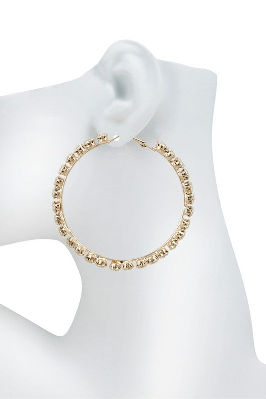 Diamond Hoops in Gold