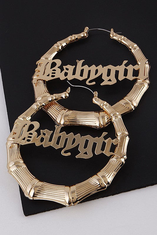 Babygirl Bamboo Hoops in Gold