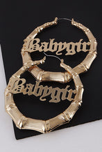 Load image into Gallery viewer, Babygirl Bamboo Hoops in Gold