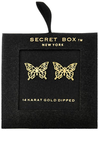 Butterfly Studs in Gold