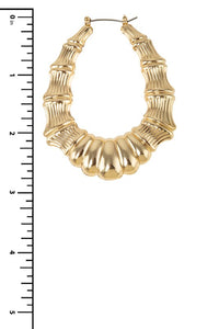 Oval Flare Bamboos in Gold
