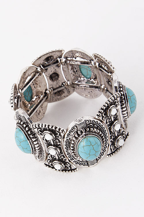 The Antique Turquoise Festival Bracelet