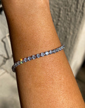 Load image into Gallery viewer, Cushion Tennis Bracelet in Silver
