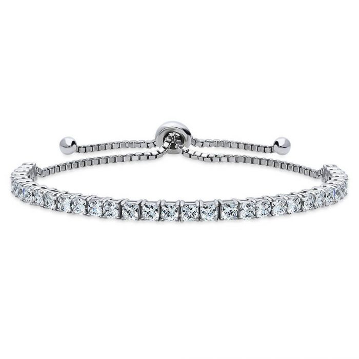 Cushion Tennis Bracelet in Silver
