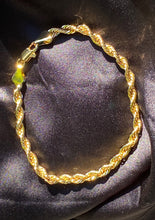 Load image into Gallery viewer, 70's Rope Chain Bracelet in Gold