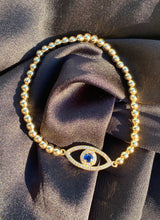 Load image into Gallery viewer, Dainty Evil Eye Bead Bracelet