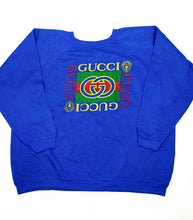 Load image into Gallery viewer, Vintage Unofficial Gucci Sweatshirt - Blue
