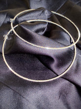 Load image into Gallery viewer, XL Dainty Diamond Hoops