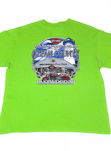 Vintage Harley Davidson of Ocean County T-Shirt - Lime Green