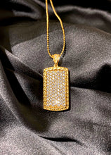 Load image into Gallery viewer, 24k Icy Dog Tag Necklace