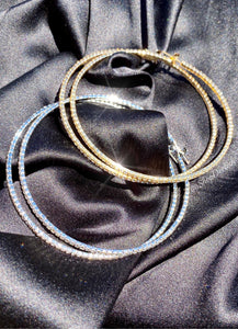 Dainty Diamond Hoops