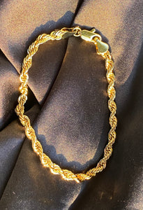 70's Rope Chain Bracelet in Gold