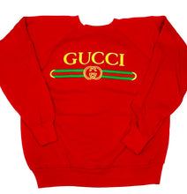 Load image into Gallery viewer, Vintage Unofficial Gucci Sweatshirt - Red
