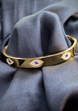 Load image into Gallery viewer, Evil Eye Protection Bangle in Gold