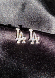 Icy LA Studs in Silver
