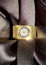 Load image into Gallery viewer, Evil Eye Protection Ring in Gold