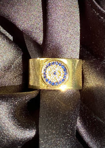 Evil Eye Protection Ring in Gold