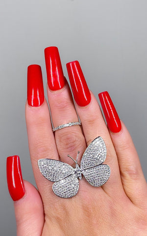 Butterfly Baby Diamond Ring