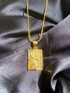 24k Mystical Dragon Necklace