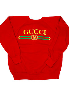 Vintage Unofficial Gucci Sweatshirt - Red