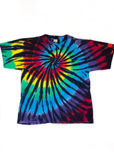 Load image into Gallery viewer, Vintage Tie Dye Spiral T-Shirt - Black