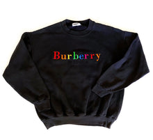 Load image into Gallery viewer, Vintage Unofficial Burberry Sweatshirt - Black