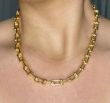 Load image into Gallery viewer, 14k Hardware Link Necklace