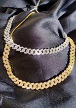 Load image into Gallery viewer, Pavé Chain Link Choker Necklace