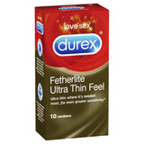 Featherlite Ultra Thin Feel Condoms 10 Pack