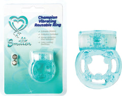 Champion Vibrating Reusable Ring (Sea Blue)