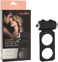 Silicone Lovers Gear Figure 8 Enhancer (Black)