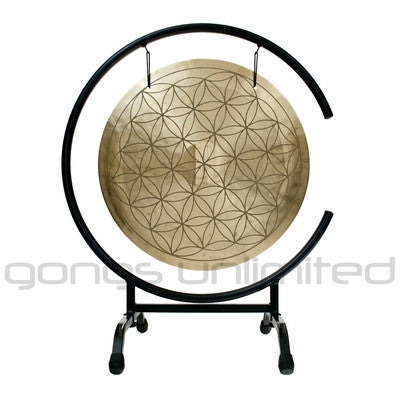 "16"" Flower of Life Wind Gong on High C Gong Stand"