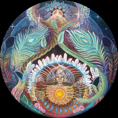 """Our Ancient Mother"" w/ Morgan Mandala by Ashely Foreman"