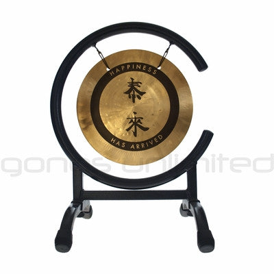 "8"" Tai Loi Wind Gong on High C Stand - ""The Tai Loi Desktop Gong Combo"""